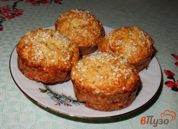 фото рецепта: Овсяные булочки с капустой