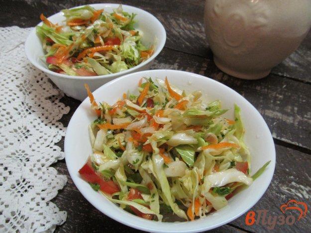 фото рецепта: Салат из капусты с чесноком