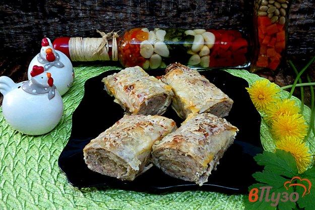 фото рецепта: Пирог из лаваша с фаршем