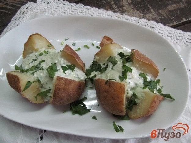 фото рецепта: Запеченный картофель под соусом тартар