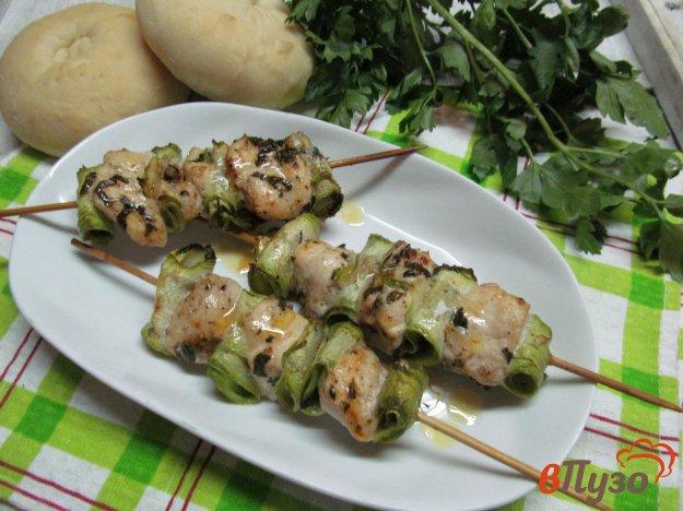 фото рецепта: Шашлык из курицы с кабачком