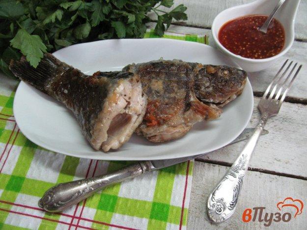 фото рецепта: Жареная рыба под соусом из апельсина