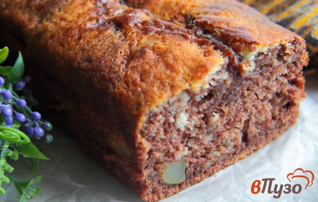 фото рецепта: Грушевый кекс с какао