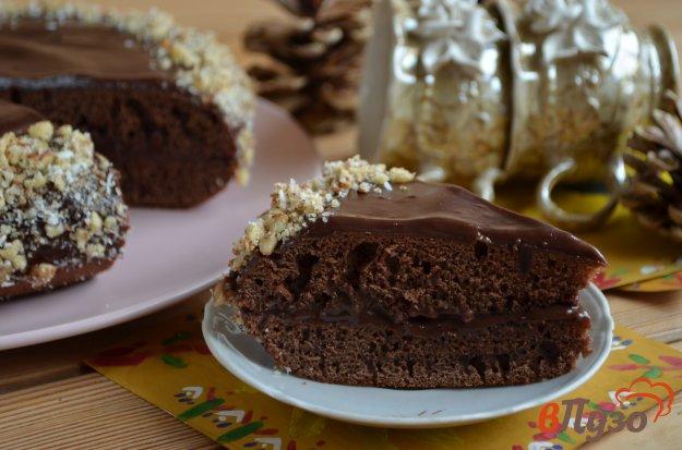 фото рецепта: Шоколадный торт с шоколадным кремом