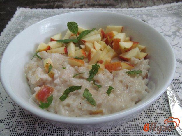 фото рецепта: Рисовая каша с сыром янтарь и яблоком