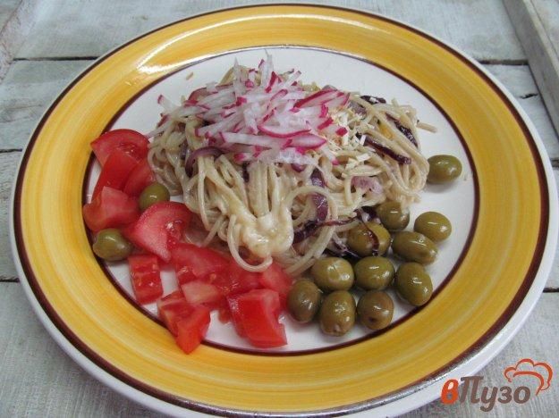 фото рецепта: Паста с овощами и копченым сыром