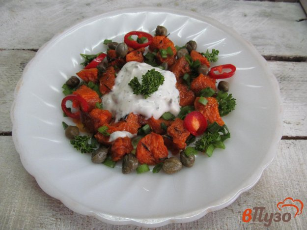 фото рецепта: Закуска из тыквы с мятным соусом