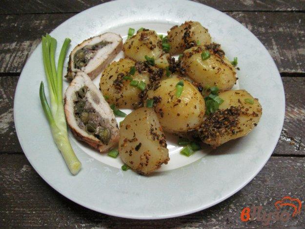 фото рецепта: Запеченный картофель с горчицей и вином