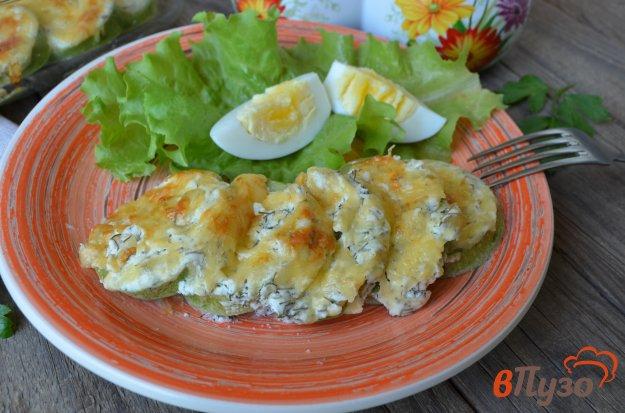 фото рецепта: Кабачки в духовке в сметане с сыром