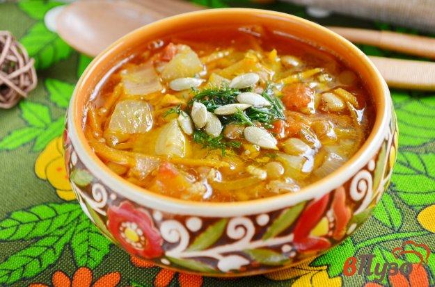 фото рецепта: Карри-суп с чечевицей и тыквой