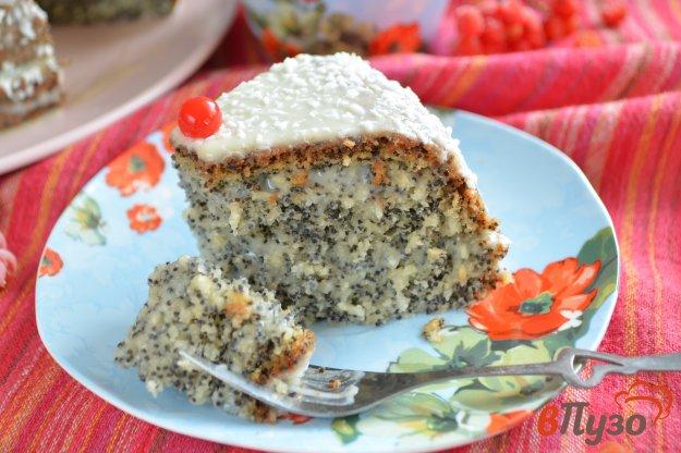фото рецепта: Маково-кокосовый пирог