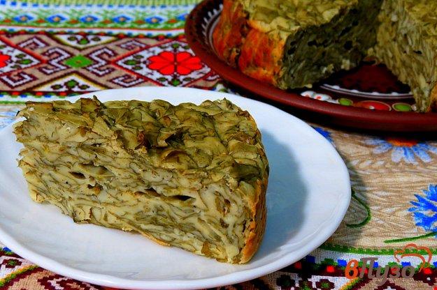 фото рецепта: Пирог со щавелем (заливной)
