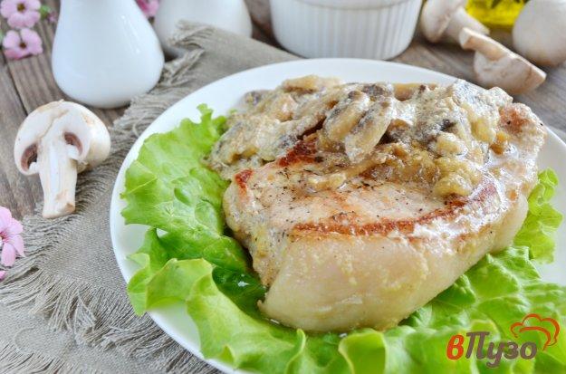 фото рецепта: Свинина под грибным соусом