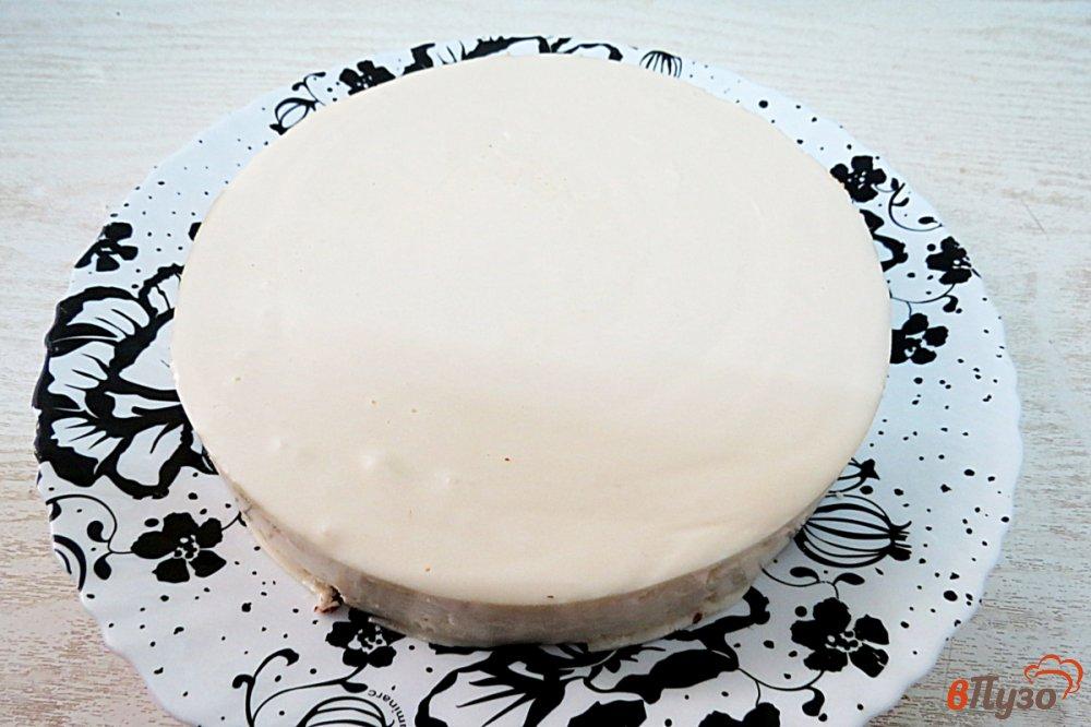 Фото приготовление рецепта: Творожный торт без выпечки шаг №8