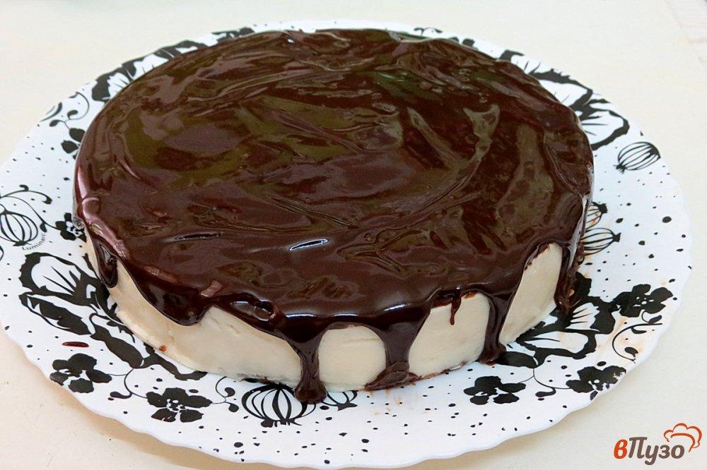 Фото приготовление рецепта: Творожный торт без выпечки шаг №9