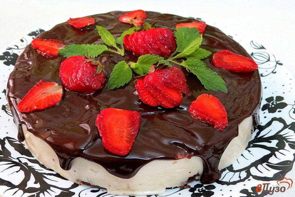 Фото приготовление рецепта: Творожный торт без выпечки шаг №10