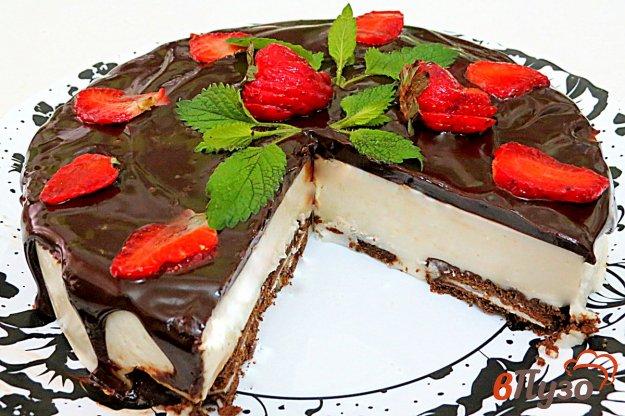 фото рецепта: Творожный торт без выпечки