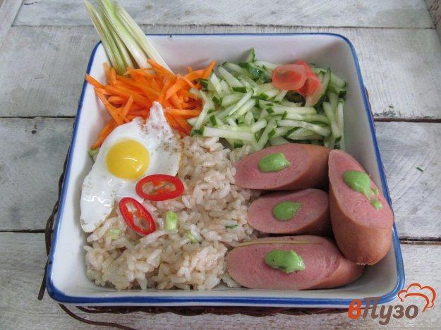фото рецепта: Рис с сосисками и овощами