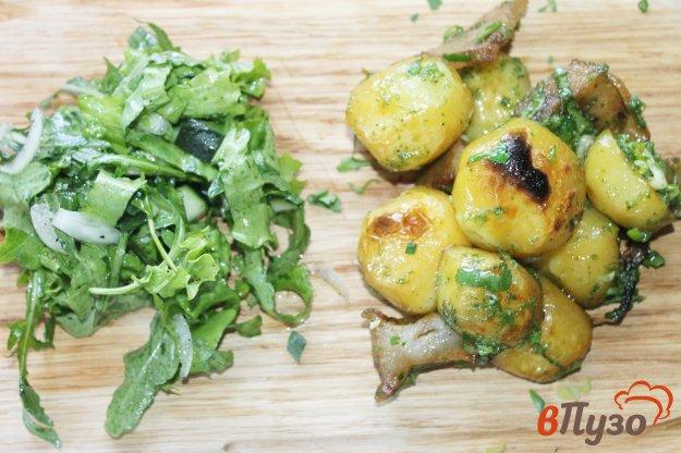 фото рецепта: Картофель по - деревенски с салом и луком на костре