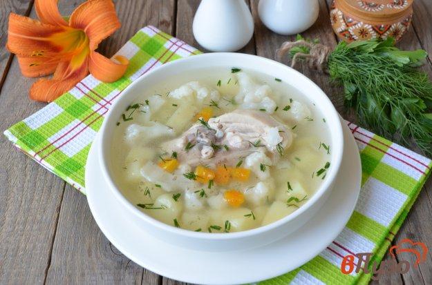 фото рецепта: Суп из цветной капусты на мясном бульоне