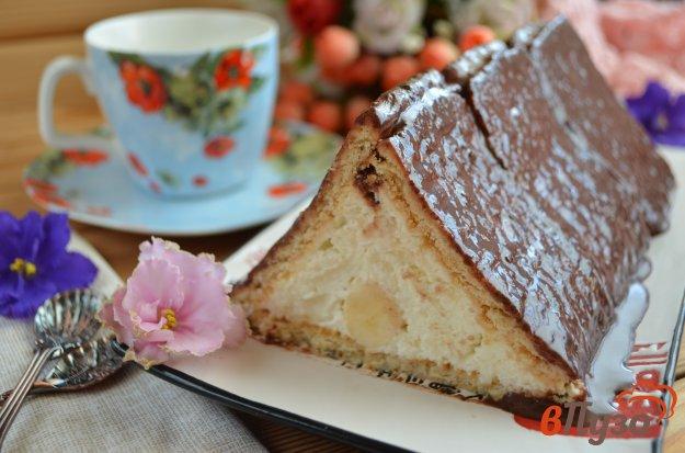 фото рецепта: Торт из печенья, творога и банана
