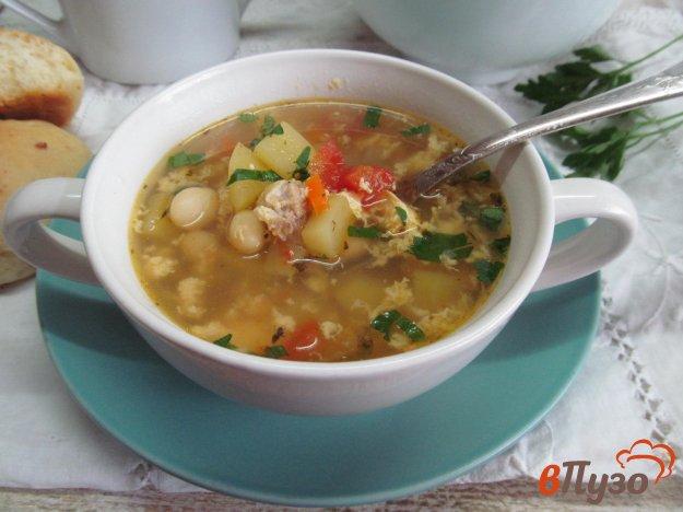 фото рецепта: Картофельный суп с яйцом и помидором