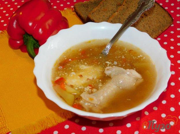 фото рецепта: Легкий куриный суп с гречкой и болгарским перцем