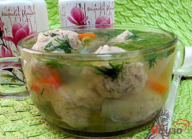 фото рецепта: Суп с фрикадельками горошком и перцем