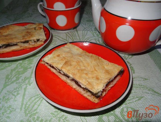фото рецепта: Песочный пирог с щавелем