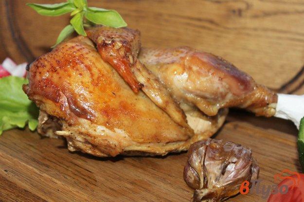 фото рецепта: Курица в рукаве с лимоном и чесноком