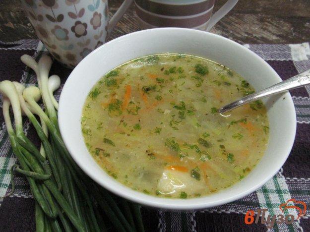 фото рецепта: Суп с кабачком манной крупой и копченым сыром