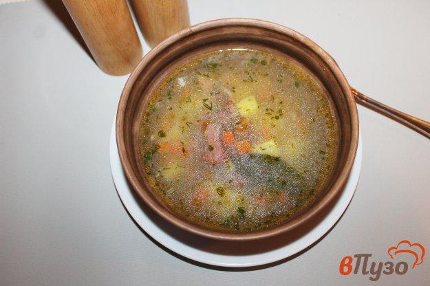 фото рецепта: Суп с копченым мясом и вермишелью