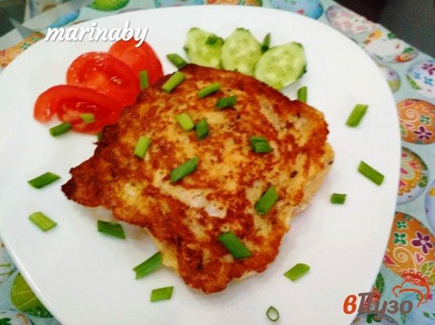 фото рецепта: Горячие тосты с ветчиной и сыром