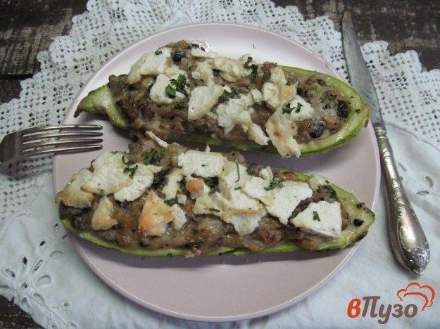 фото рецепта: Жульен в кабачке