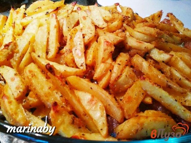 фото рецепта: Запеченный картофель с салом