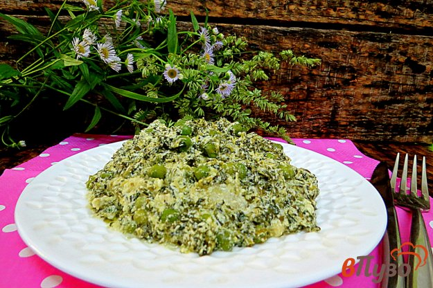 фото рецепта: Горошек и спаржевая фасоль со шпинатом