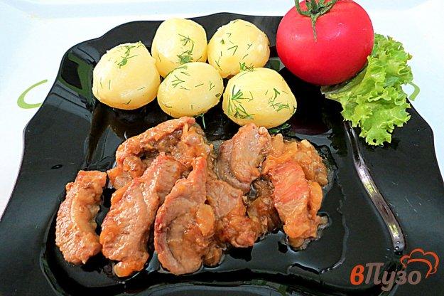 фото рецепта: Поджарка из свинины с луком