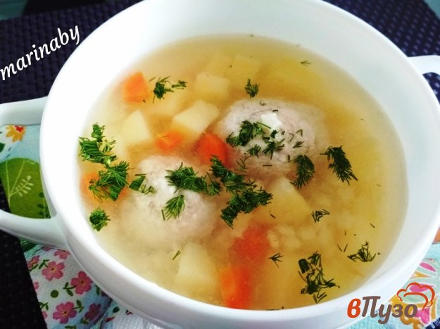 фото рецепта: Суп с фрикадельками в мультиварке