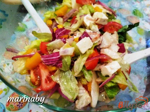 фото рецепта: Овощной салат с сыром фета