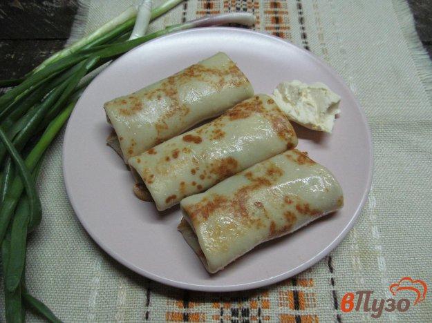 фото рецепта: Блины с начинкой из мяса и кабачка