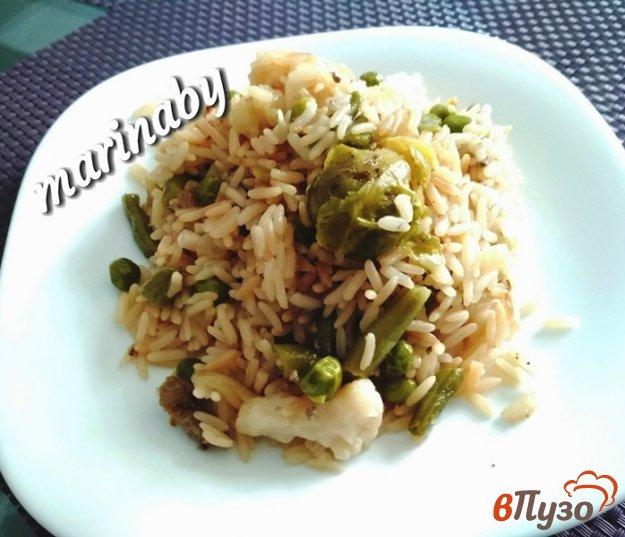 фото рецепта: Рис с овощами в мультиварке