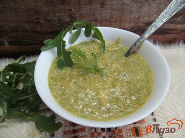фото рецепта: Холодный суп из кабачка с морковью и томатным соком