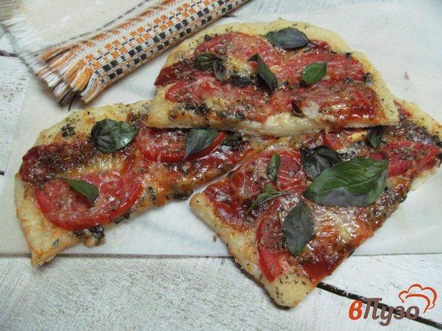 фото рецепта: Томатная пицца на картофельном тесте