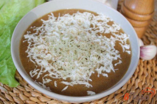 фото рецепта: Грибной суп-пюре с козьим сыром