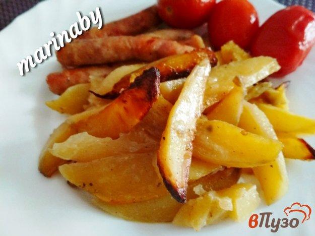 фото рецепта: Запеченный картофель с чесноком