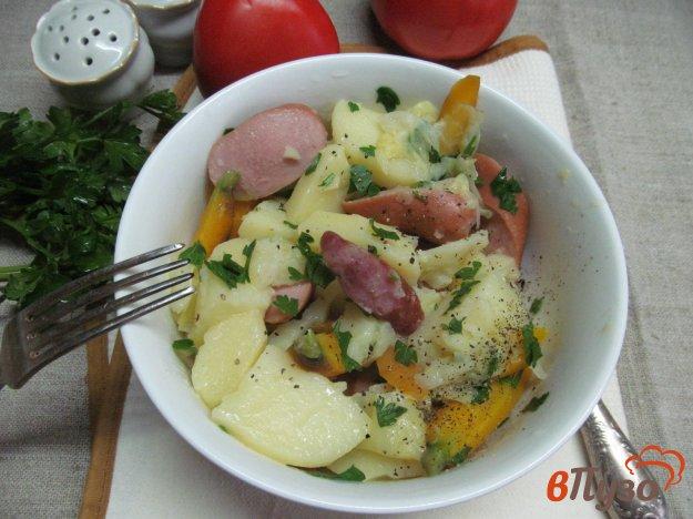 фото рецепта: Овощи с сосисками по французски