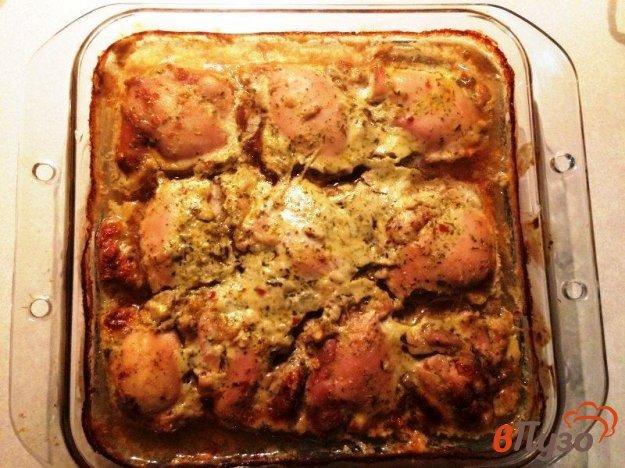 фото рецепта: Куриная мякоть бедра  запеченная в маринаде
