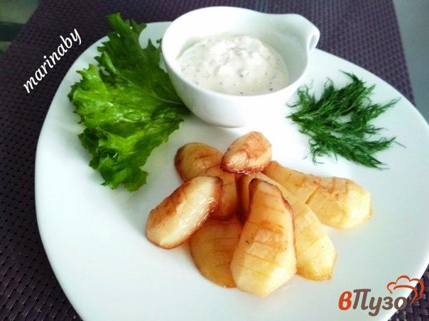 фото рецепта: Жаренный картофель под соусом