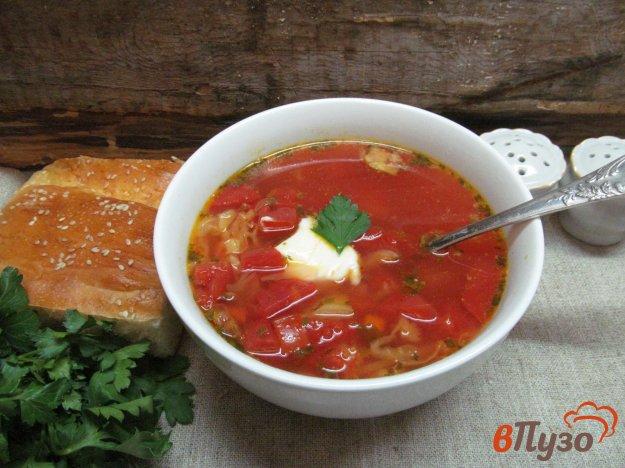фото рецепта: Овощной суп со свеклой и молодой капустой