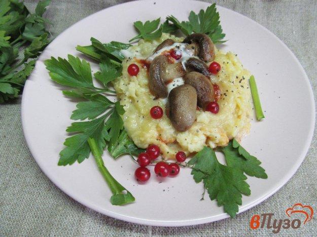 фото рецепта: Картофельная корзиночка с грибами